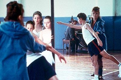 Mrs. Wilkinson's ( Julie Walters ) zest for teaching is awakened by a new student, Billy Elliot ( Jamie Bell ), in Universal's Billy Elliot