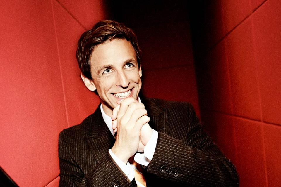 Seth Meyers performs in Saturday Night Live on NBC.