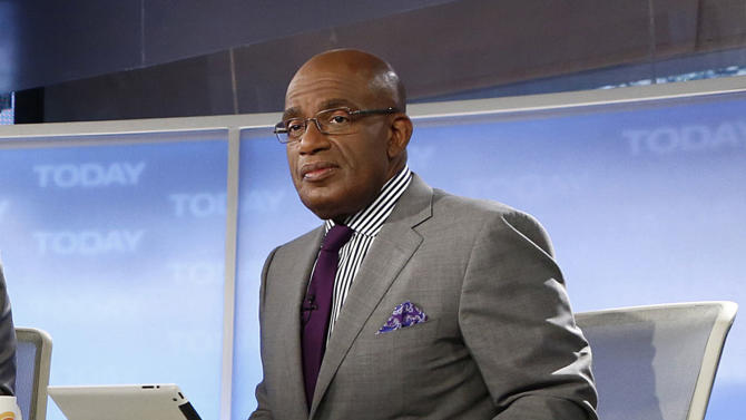 "FILE - This April 18, 2013 file photo released by NBC shows co-hosts Al Roker on the set of NBC News' ""Today"" show in New York. Roker is largely standing by his public shellacking of New York City's mayor for keeping public schools open during a snowstorm. But he is apologizing for his tweet forecasting ""one term"" for Bill de Blasio. (AP Photo/NBC, Peter Kramer, File)"