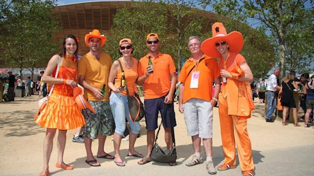 Dutch Olympic hockey fans
