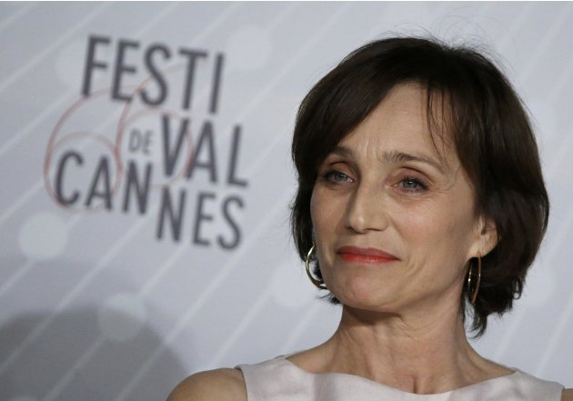 "Cast member Kristin Scott Thomas attends a news conference for the film ""Only God Forgives"" during the 66th Cannes Film Festival"