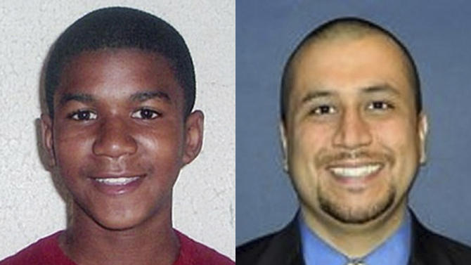 This combo made from file photos shows Trayvon Martin, left, and George Zimmerman.  The fatal shooting of an unarmed black teenager _ Martin _ by a neighborhood watch volunteer _ Zimmerman _ led to nationwide protests calling for the shooter's arrest. Martin's parents, civil rights leaders and other people are portraying the case as racially charged, saying the Zimmerman would have been arrested had he been black and the victim white.  Zimmerman told police he acted in self-defense after Martin pursued and attacked him. (AP Photo)