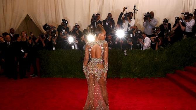"""Beyonce arrives at the Metropolitan Museum of Art Costume Institute Gala 2015 celebrating the opening of """"China: Through the Looking Glass,"""" in Manhattan"""