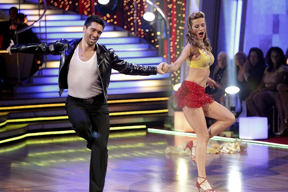 "Petra Nemcova and Dmitry Chaplin perform on ""Dancing with the Stars."""