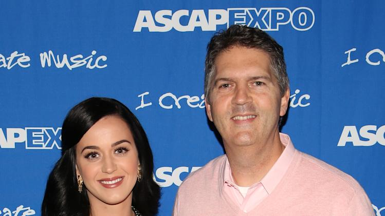 "(L-R) Songwriter/Artist Katy Perry and EVP, Membership, ASCAP Randy Grimmett attend the 8th Annual ASCAP ""I Create Music"" EXPO, on Thursday, April 18, 2013 in Hollywood, California. (Photo by Brian Dowling/Invision for ASCAP/AP Images)"