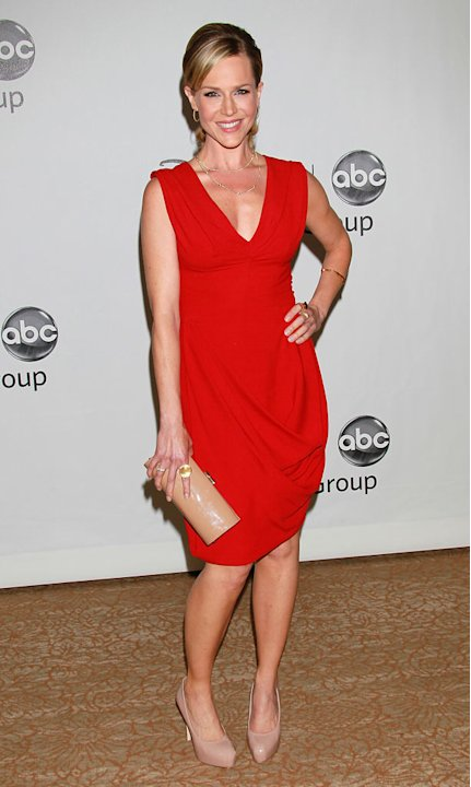 """No Ordinary Family's"" Julie Benz arrives at the Disney/ABC Television 2010 TCA Summer Press Tour on August 1, 2010 in Beverly Hills, California."