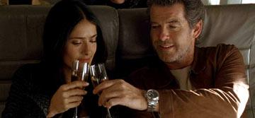 Salma Hayek and Pierce Brosnan in New Line Cinema's After the Sunset