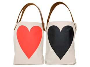 FluffyCo Two-Sided Heart Tote