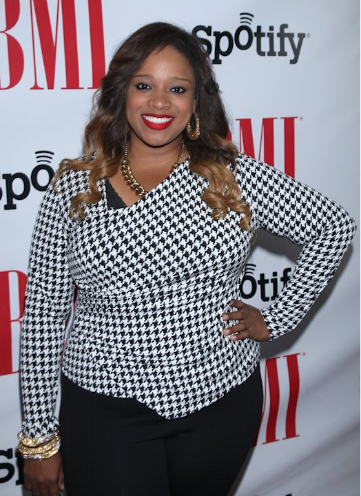 Kierra Sheard arrives at the BMI Urban Awards honoring Mariah Carey held at the Saban theatre on Friday Sept 7, 2012, in Beverly Hills, Calif. (Photo by Arnold Turner/Invision for BMI/AP Images)