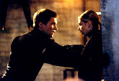 Marc Blucas and Sarah Michelle Gellar of Buffy The Vampire Slayer