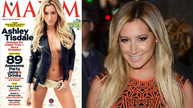 Ashley Tisdale Goes Topless For Maxim