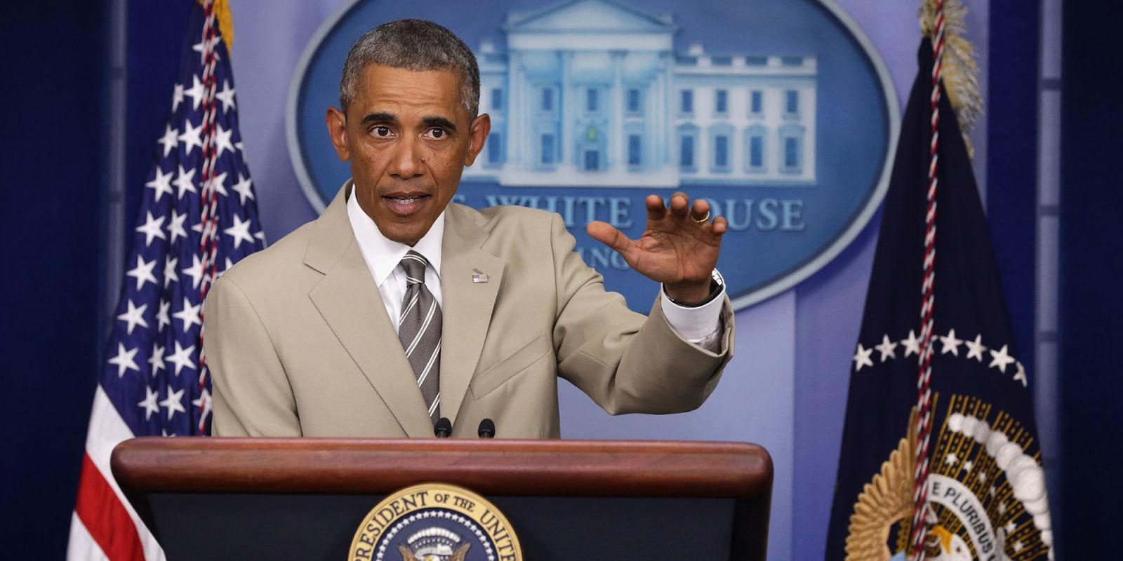 President Obama Wanted to Wear His Tan Suit for His Last Press Conference But Michelle Convinced Him Not to