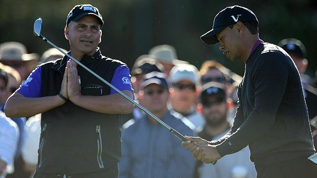 Rocco Mediate and Tiger Woods