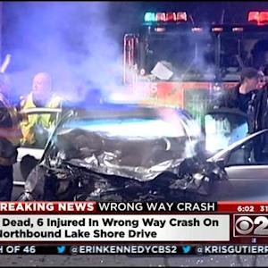 1 Dead, 3 Injured In Wrong-Way Crash On Lake Shore Drive