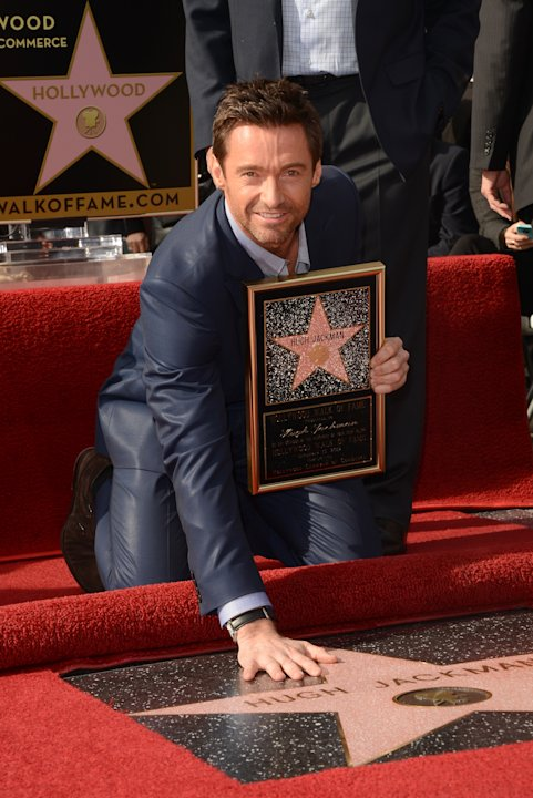 Hugh Jackman Honored On The Hollywood Walk Of Fame