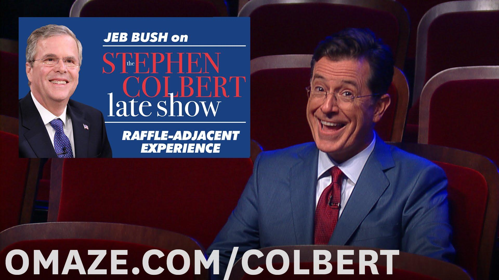 Jeb Bush has already annoyed Stephen Colbert ahead of their 'Late Show' interview