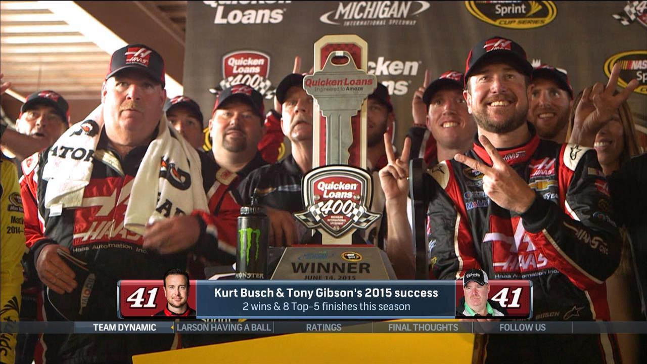 Tony Gibson's influence on Kurt Busch evident