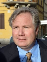 John Arthur Eaves -- a US lawyer representing some of the victims of the Costa Concordia disaster -- speaks to the media outside the Grosseto courthouse. Europe's top cruise operator has come under pressure at pre-trial hearings into the Costa Concordia disaster as captain Francesco Schettino faced survivors for the first time