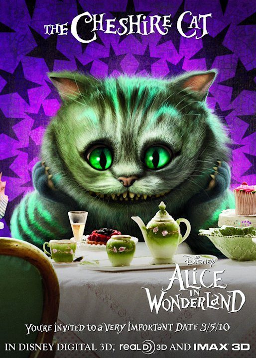 Alice in Wonderland Poster Production Stills Walt Disney 2010