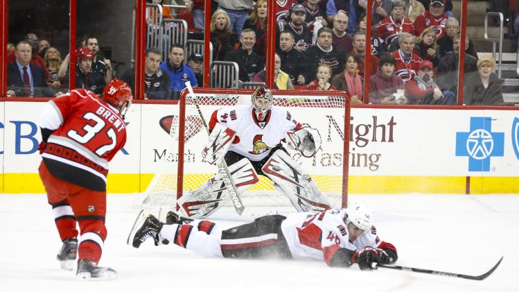 NHL: Ottawa Senators at Carolina Hurricanes