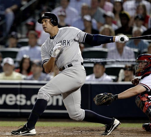 Rodriguez hits slam, Yankees beat Braves 6-4
