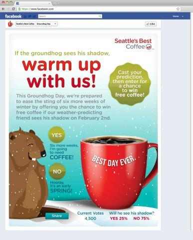 Seattle's Best Coffee® Could Take the Chill out of More Winter Weather with Free Coffee