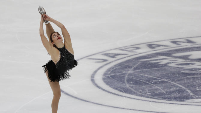 Wagner of the U.S. performs during the ladies' singles short program at the ISU Grand Prix of Figure Skating in Nagano