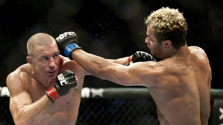 Georges St-Pierre (L) from Montreal, Can