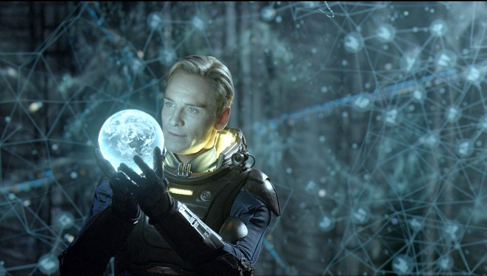 "This film image released by 20th Century Fox shows Michael Fassbender in a scene from ""Prometheus."" (AP Photo/20th Century Fox, Kerry Brown)"