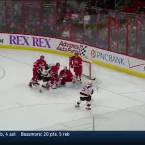 Cam Ward Save on Eric Gelinas (18:25/3rd)