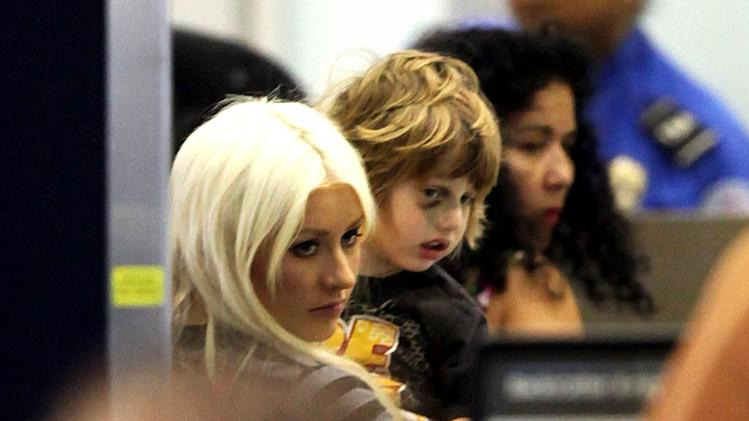 Christina Aguilera son LAX