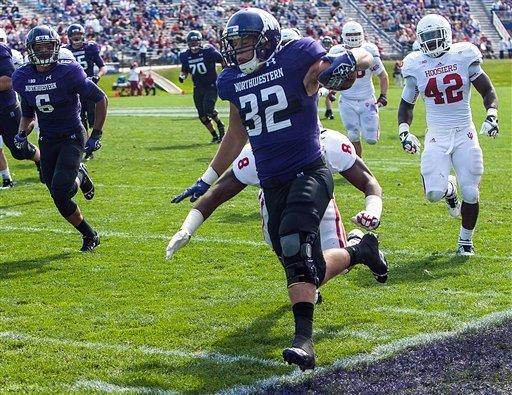Colter leads Northwestern past Indiana, 44-29