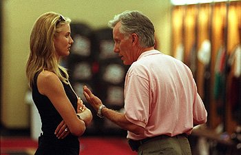 Cameron Diaz and James Woods in Warner Brothers' Any Given Sunday
