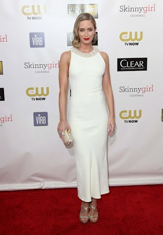 Emily Blunt shines in a pretty Miu Miu dress at the 18th Annual Critics' Choice Awards in Santa Monica on January 10, 2013.