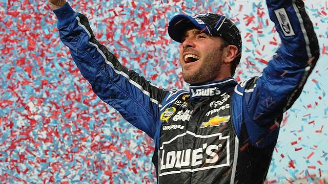 Jimmie Johnson in control of Sprint Cup