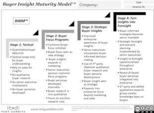 Is Your Organization Listening To Your Buyers?  (How It Can Using 4 Stages of the Buyer Insight Maturity Model) image buyer insight maturity model 1024x753