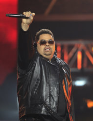 In this Oct. 1, 2011 photo, rapper Heavy D, also known as Dwight Arrington Myers, performs during the BET Hip Hop Awards in Atlanta. A representative confirmed Tuesday, Nov. 8, 2011 that the singer and former leader of Heavy D & the Boyz died. He was 44. (AP Photo/David Goldman)