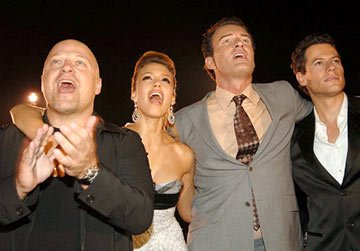 Premiere: Michael Chiklis, Jessica Alba, Julian McMahon and Ioan Gruffudd at the New York premiere of 20th Century Fox's Fantastic Four - 7/6/2005