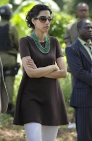 Huma Abedin attends an event at the Upendo Women's Cooperative group on June 12, 2011 in Mlandizi, Tanzania, during Secretary of State Hillary Clinton's five-day day official visit to Africa. (Photo: Susan Walsh-Pool/Getty Images)