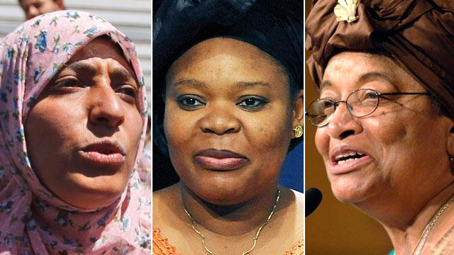 Nobel Peace Prize Goes to Women's Activists Ellen Johnson Sirleaf, Leymah Gbowee and Tawakul Karman
