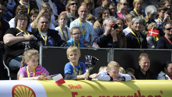 IMAGE DISTRIBUTED FOR SHELL - Fans are seen during the final day of competition at the Shell Eco-marathon Europe at The Ahoy centre in Rotterdam, The Netherlands on Sunday, May 19, 2013. Teams from universities all over Europe have brought their energy efficient cars to compete in the challenge. (Patrick Post/AP Images for Shell)