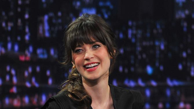 """Zooey Deschanel Visits """"Late Night With Jimmy Fallon"""""""