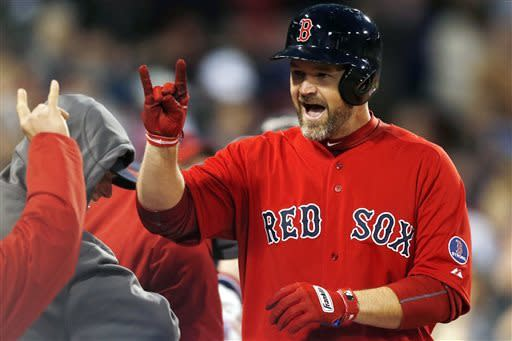 Dempster strikes out 10 as Red Sox beat Astros 7-3
