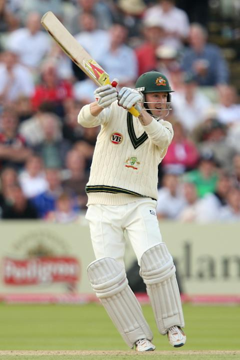 Michael Clarke hit a record Test score at the Gabba