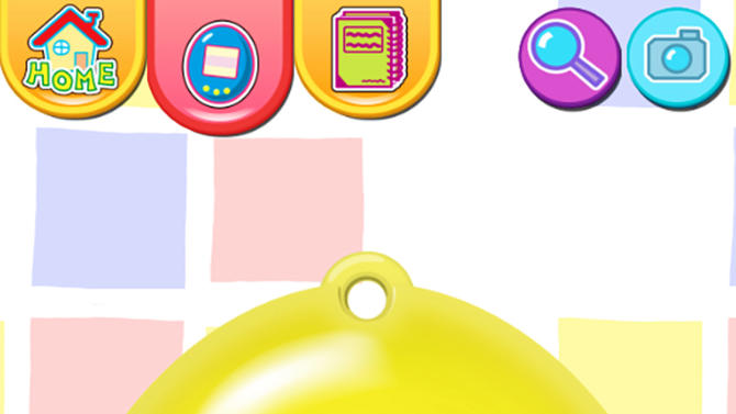 """This publicity photo released by Sync Beatz Entertainment shows the toy mode of the mobile app """"Tamagotchi L.i.f.e."""" by developer/publisher Bandai America Inc./Sync Beatz Entertainment. The app duplicates the egg-shaped Tamagotchi toy that became a must-own sensation after it was first released in 1996 in Japan. (AP Photo/Bandai America Inc./Sync Beatz Entertainment)"""