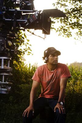Director M. Night Shyamalan on the set of 20th Century Fox's The Happening