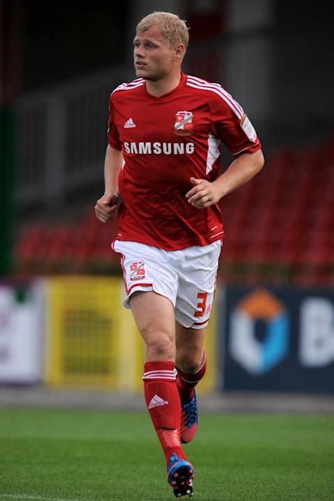 Jay McEveley has undergone knee surgery but it is unknown when he will return for Swindon