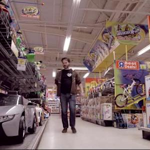 The best place to race Crazy Carts? A toy store after dark!
