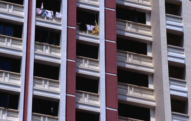 The median cash-over-valuation (COV) for HDB flats has dropped yet again to $3,000 in the month of January. (Getty Images)