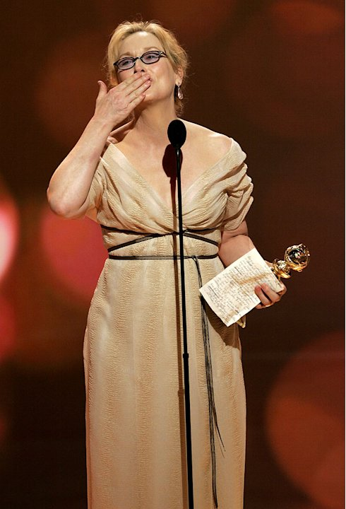 Meryl Streep adds another trophey to her case and we still love her. 64th Annual Golden Globe Awards